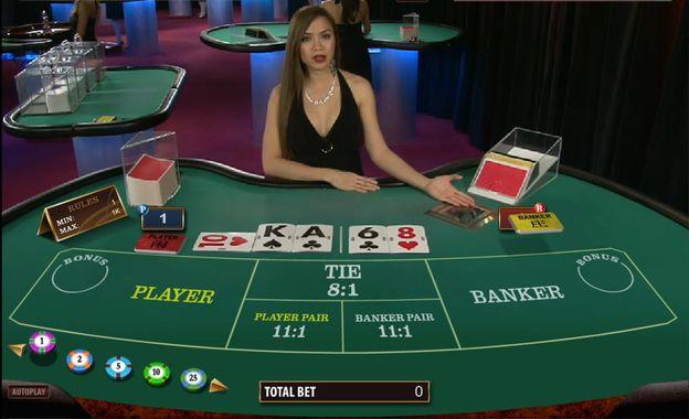 Gioco Baccarat Live: un Dealer ha distribuito le carte
