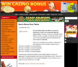 screenshot del 2011 del sito wincasinobonus con i migliori bonus deposito dell'anno!